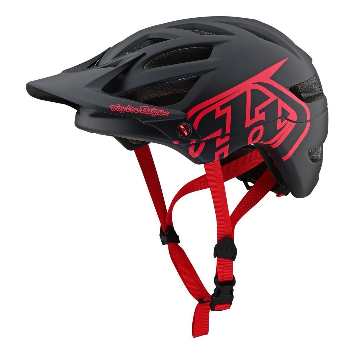 Troy Lee Designs Enduro-MTB Helm A1 Drone - Schwarz/Rot