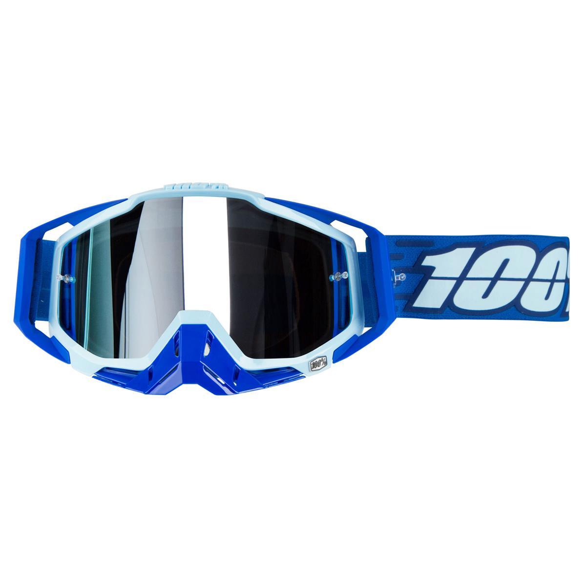 100% Crossbrille Racecraft Plus Rodion - Silber Verspiegelt Anti-Fog