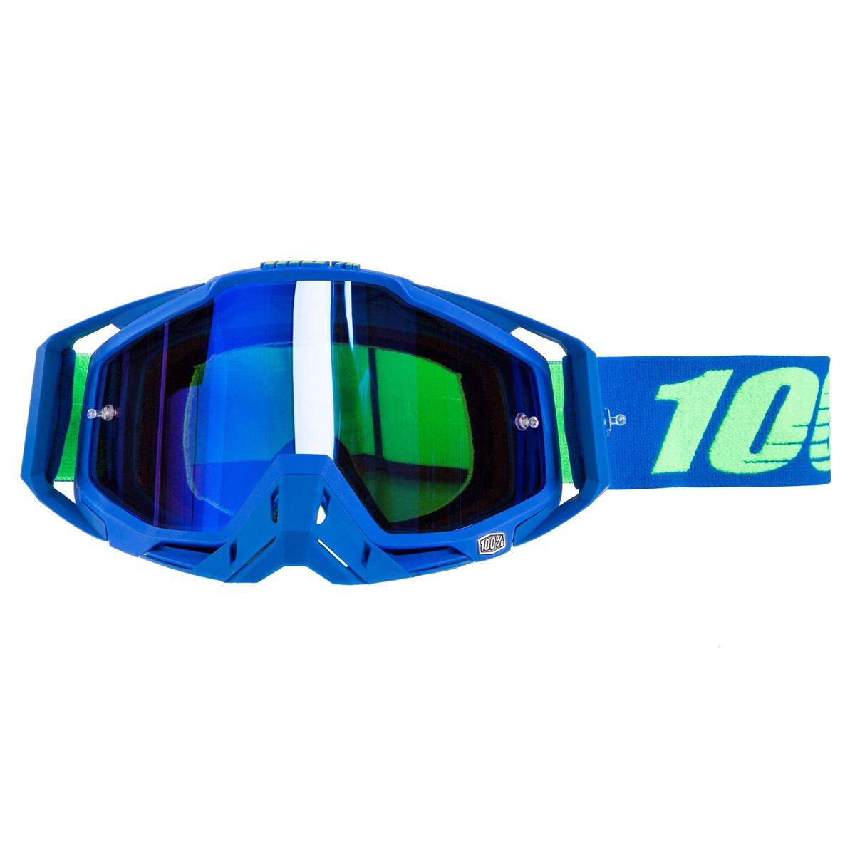 100% Goggle The Racecraft Dreamflow - Mirror Blue Anti-Fog
