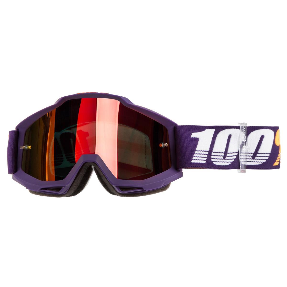 100% Crossbrille The Accuri Grib - Rot verspiegelt Anti-Fog