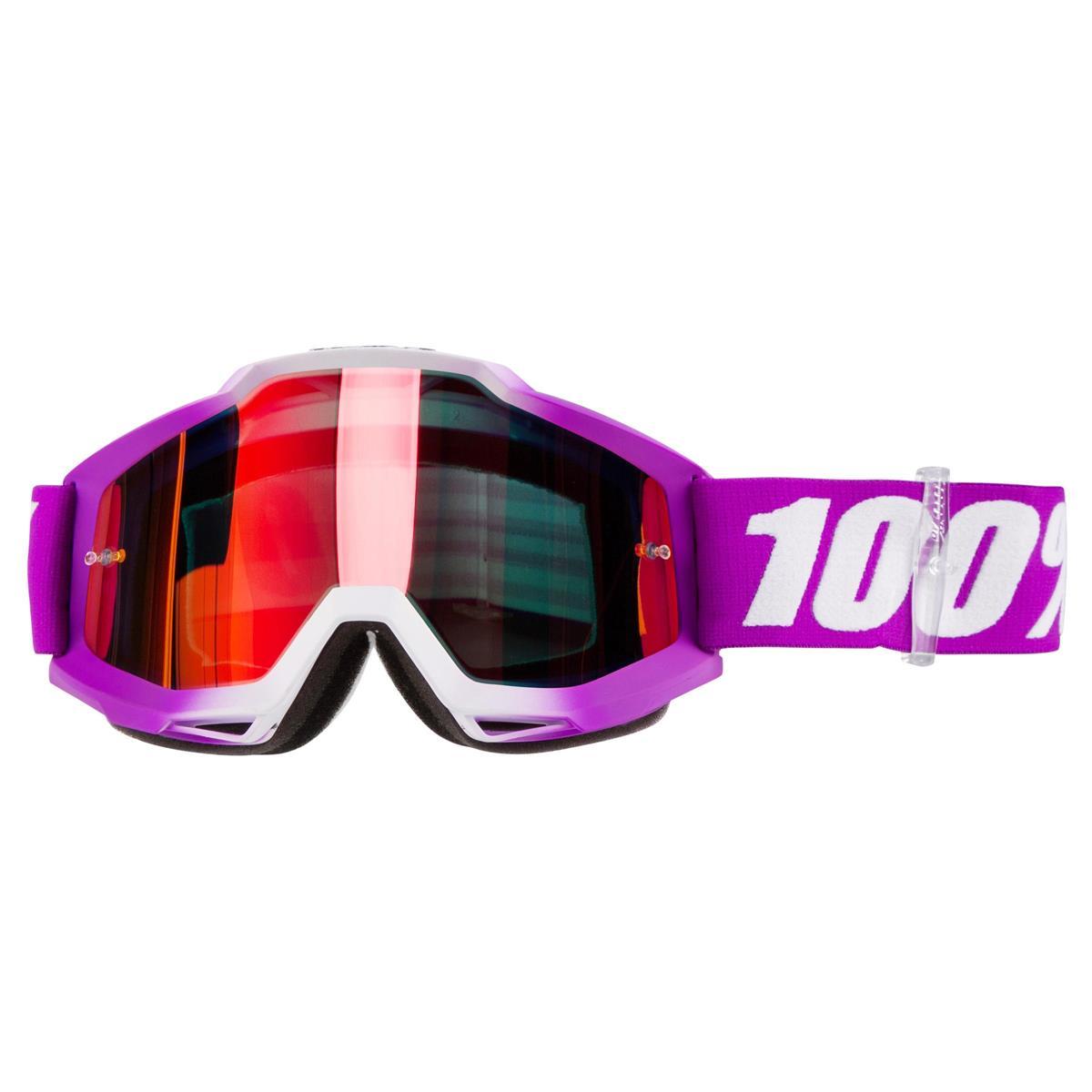 4edec265cc4a 100% Goggle The Accuri Framboise - Mirror Red Anti-Fog 2019