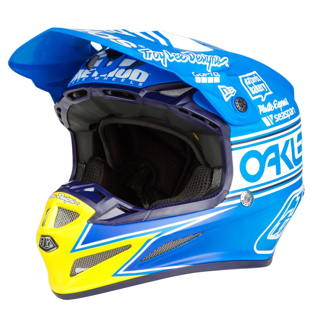 Troy Lee Designs Helmet SE4 Composite ULTRA Limited Edition Adidas Team Ocean
