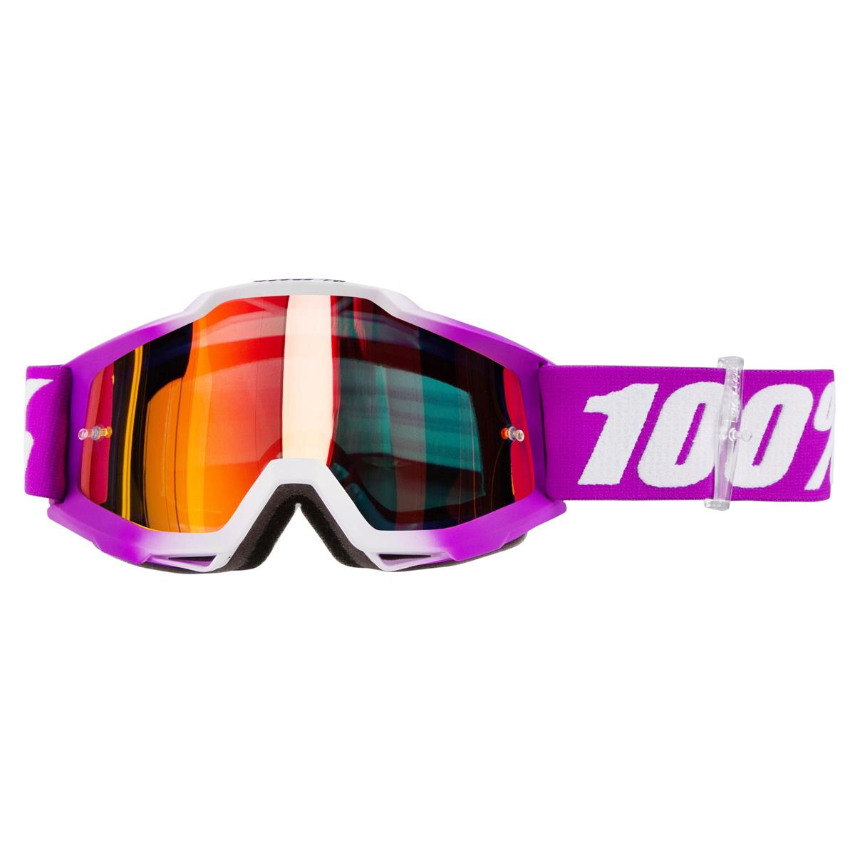 100% Kids Crossbrille The Accuri Framboise - Rot verspiegelt Anti-Fog