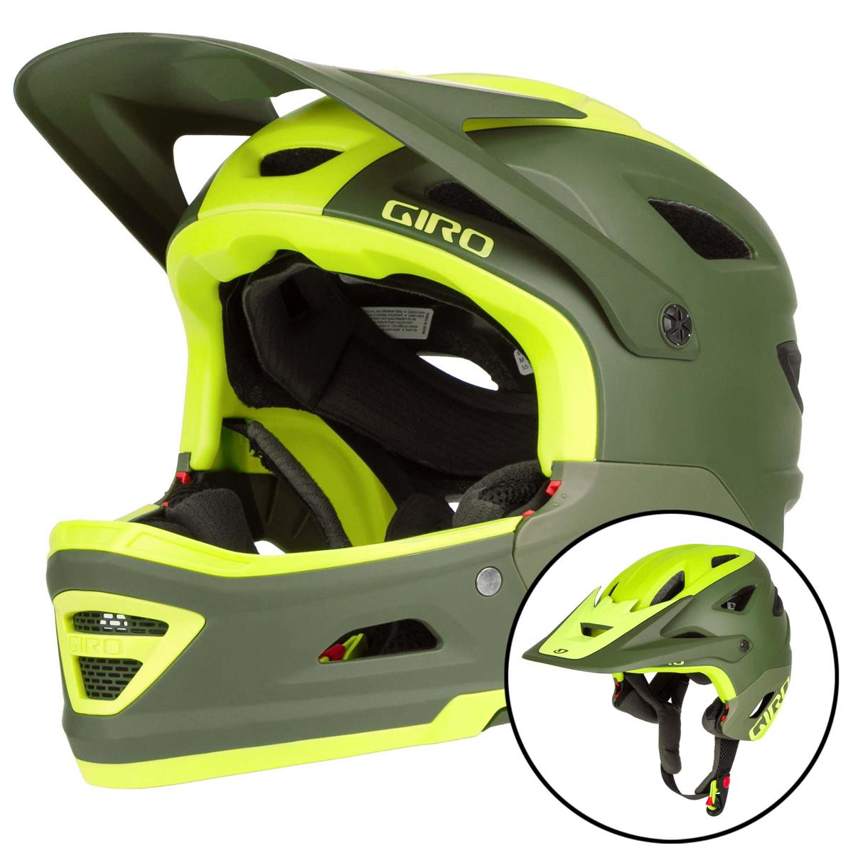 Giro Downhill-MTB Helm Switchblade MIPS Matt Citron/Oliv