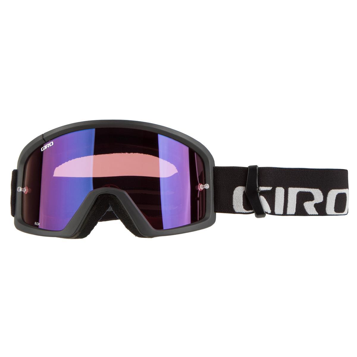 Giro Crossbrille Blok Schwarz/Grau - Vivid Trail Klar Anti-Fog