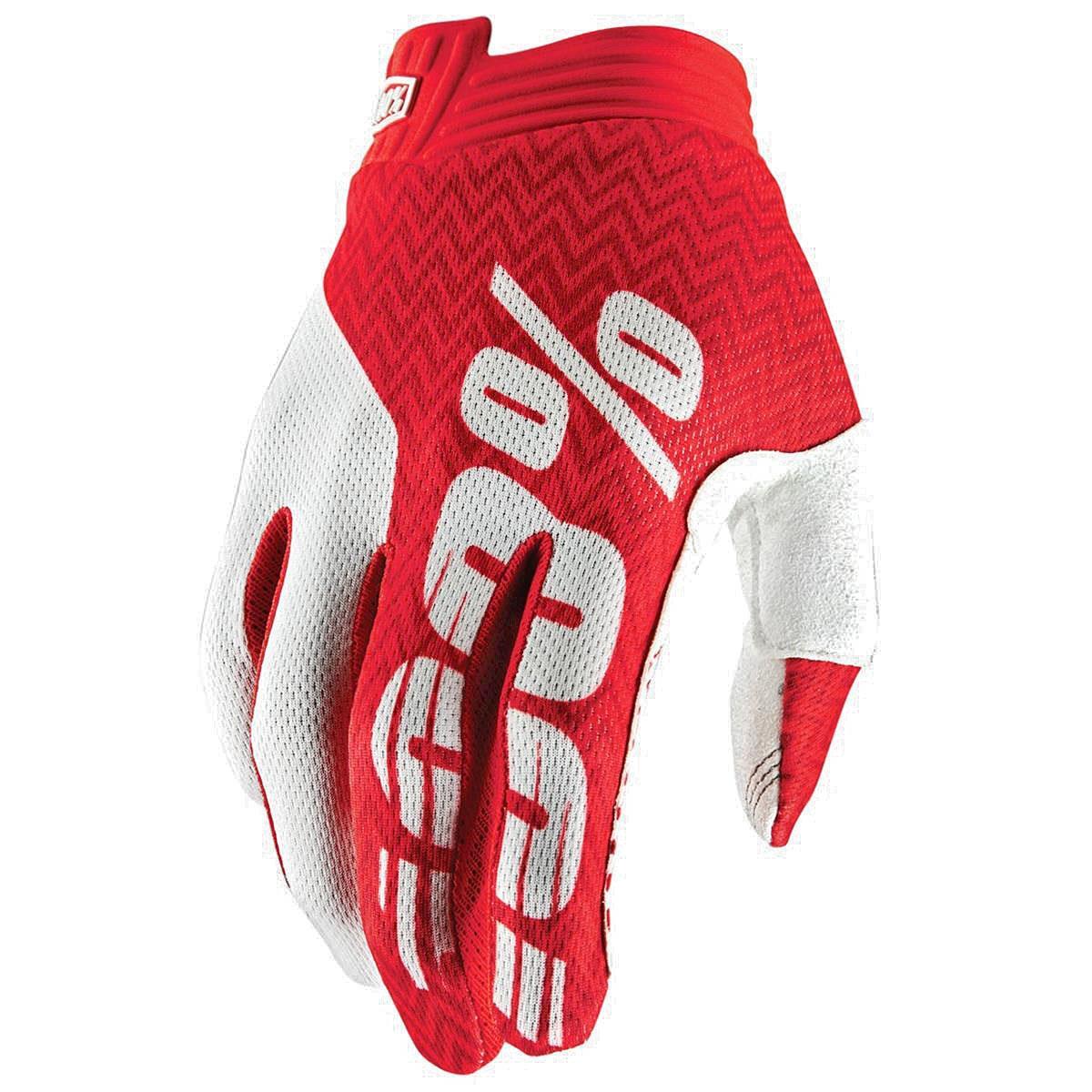 100% Bike-Handschuhe iTrack Rot/Weiß
