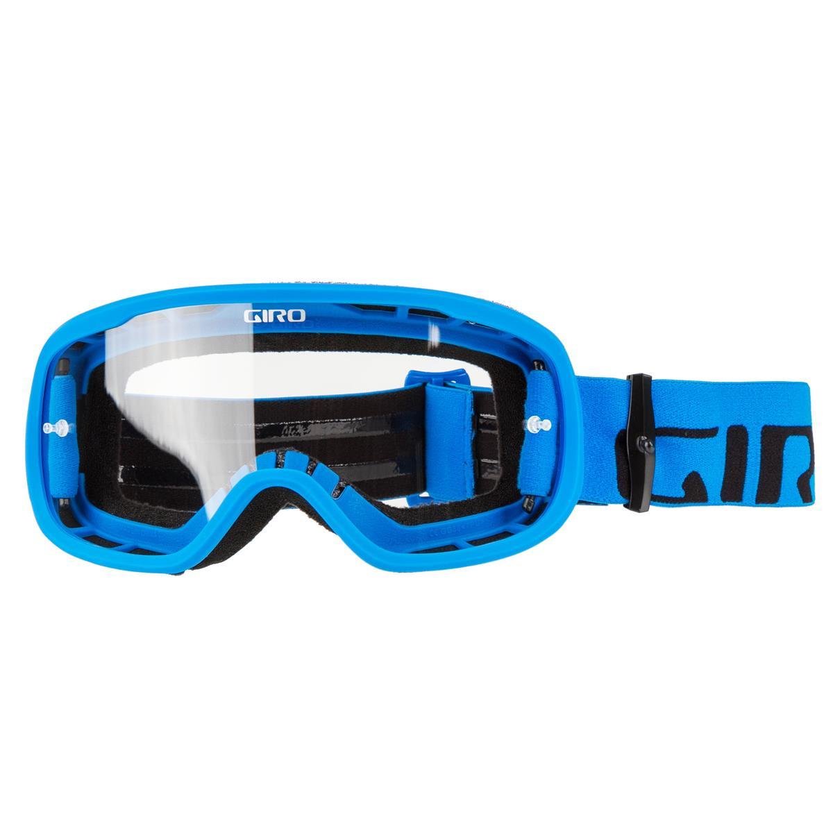 Giro Crossbrille Tempo Blau - Klar Anti-Fog
