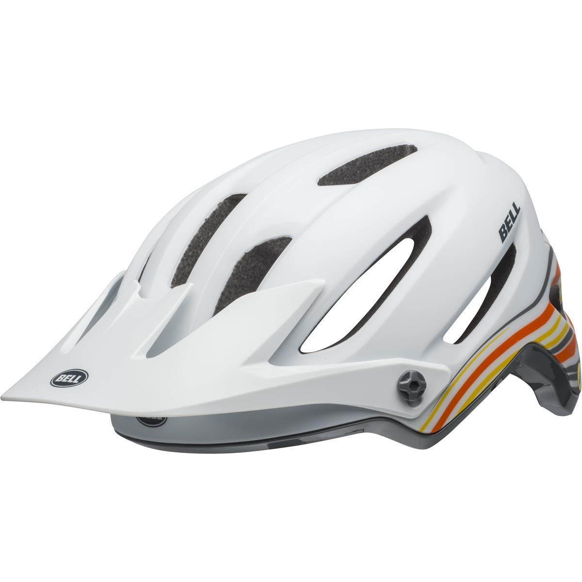 Bell Enduro-MTB Helm 4Forty MIPS Rush - Matt/Gloss Weiß/Orange