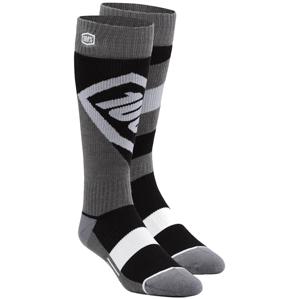 100% MX Socken Torque Schwarz/Grau