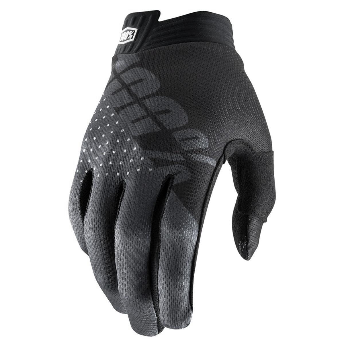 100% Kids Handschuhe iTrack Schwarz/Charcoal