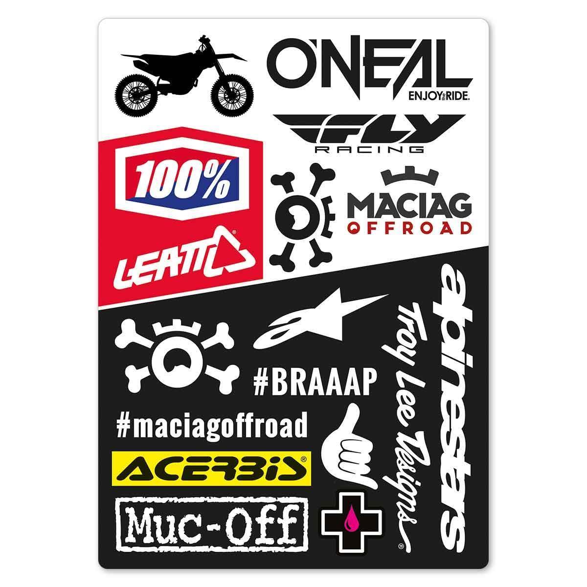 Maciag Offroad Stickerbogen  MX