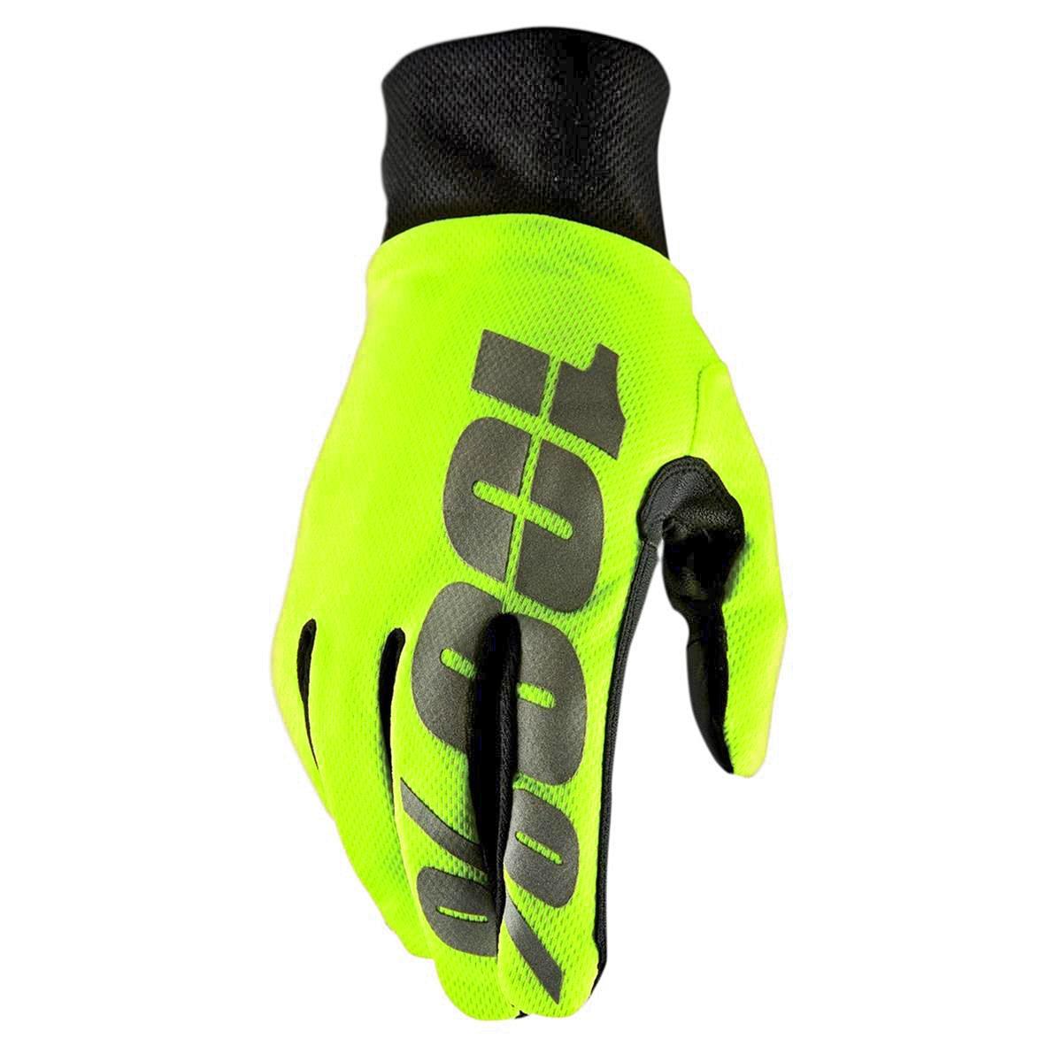 100% Bike-Handschuhe Hydromatic Waterproof Neongelb