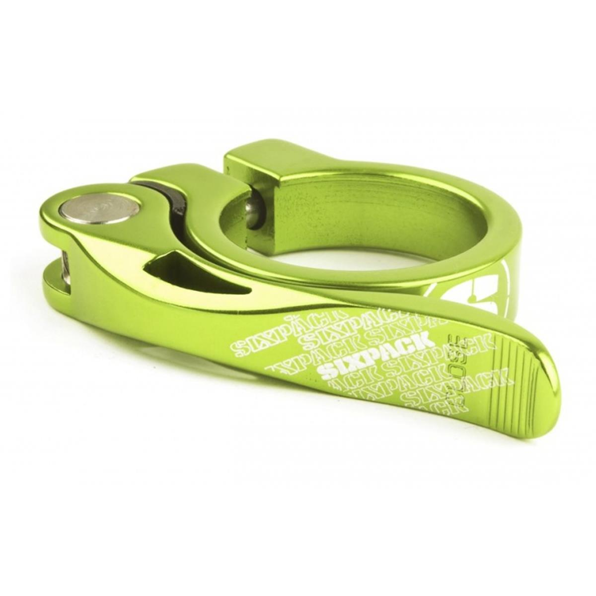 Sixpack Sattelklemme  Electric Green, 34.9 mm, Quick-Release