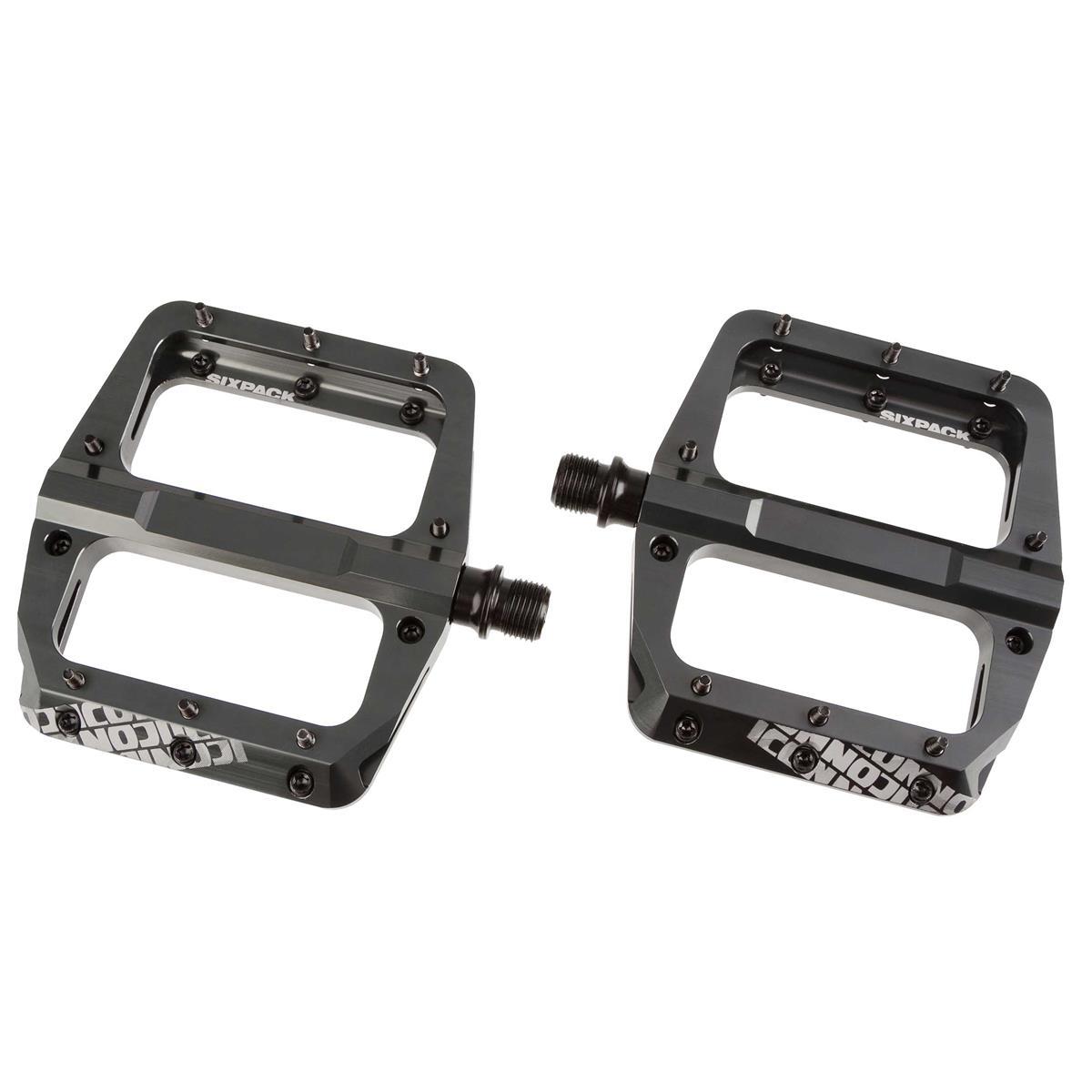 Sixpack Plattform-Pedal Icon 2.0 Grau, 100x110 mm, 32 M4 Torx Pins, 1 Paar