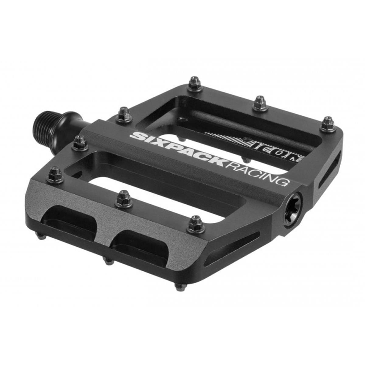 Sixpack Plattform-Pedal Icon Mini Schwarz, 85x100 mm, 32 Pins, 1 Paar