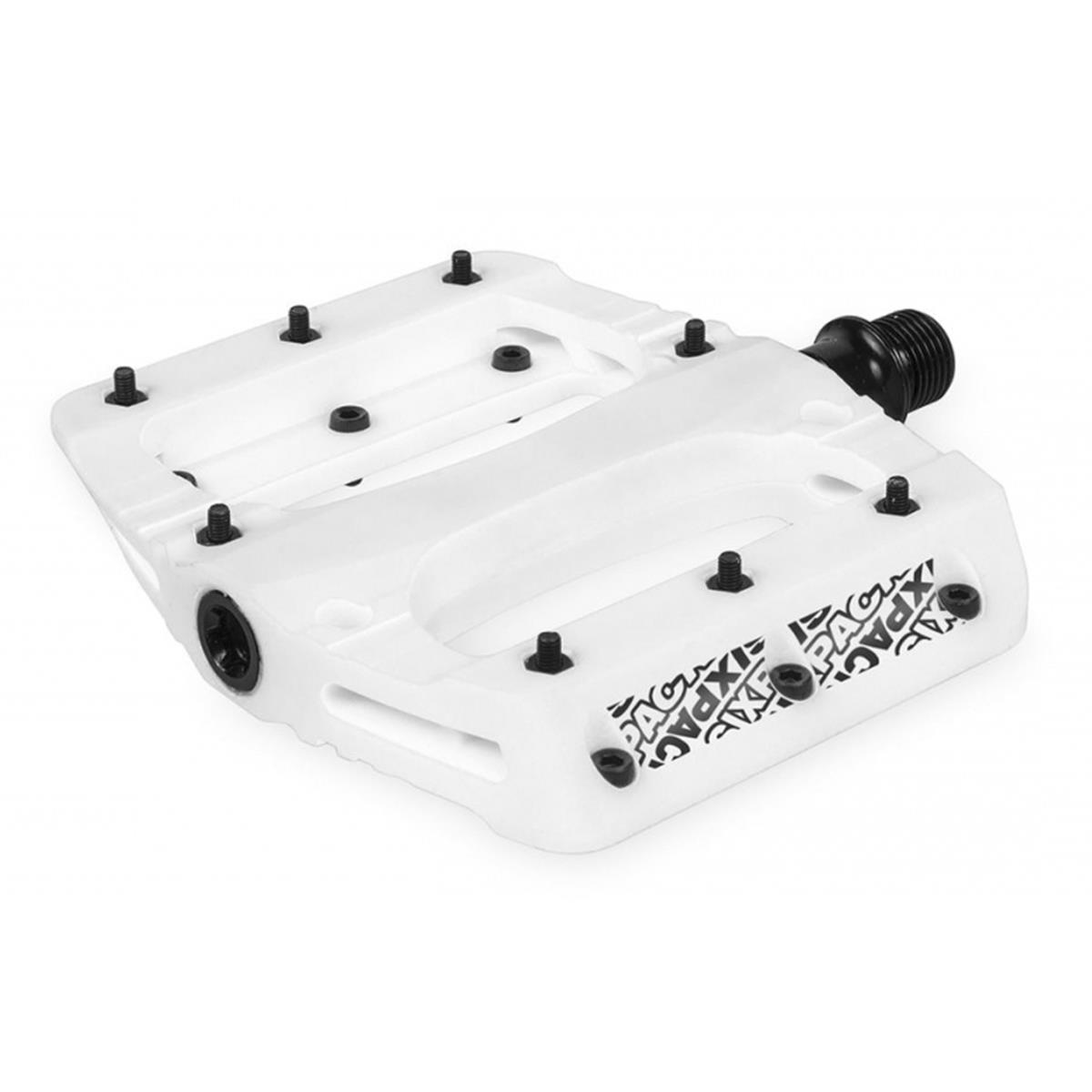 Sixpack Plattform-Pedal Vegas Weiß, 95x110 mm Plattform, 32 M3 Pins, 1 Paar