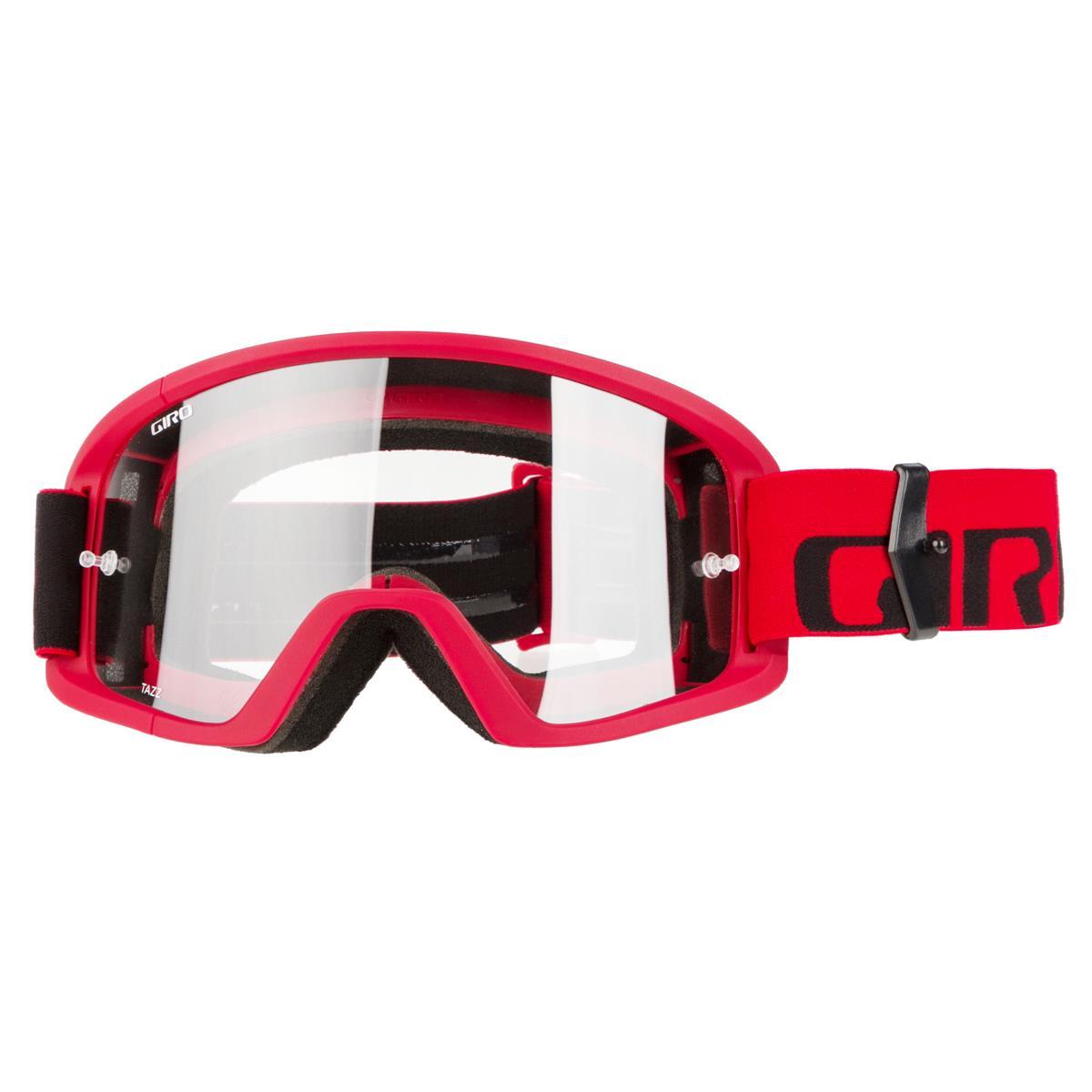 Giro Crossbrille Tazz Rot/Schwarz - Amber Klar Anti-Fog