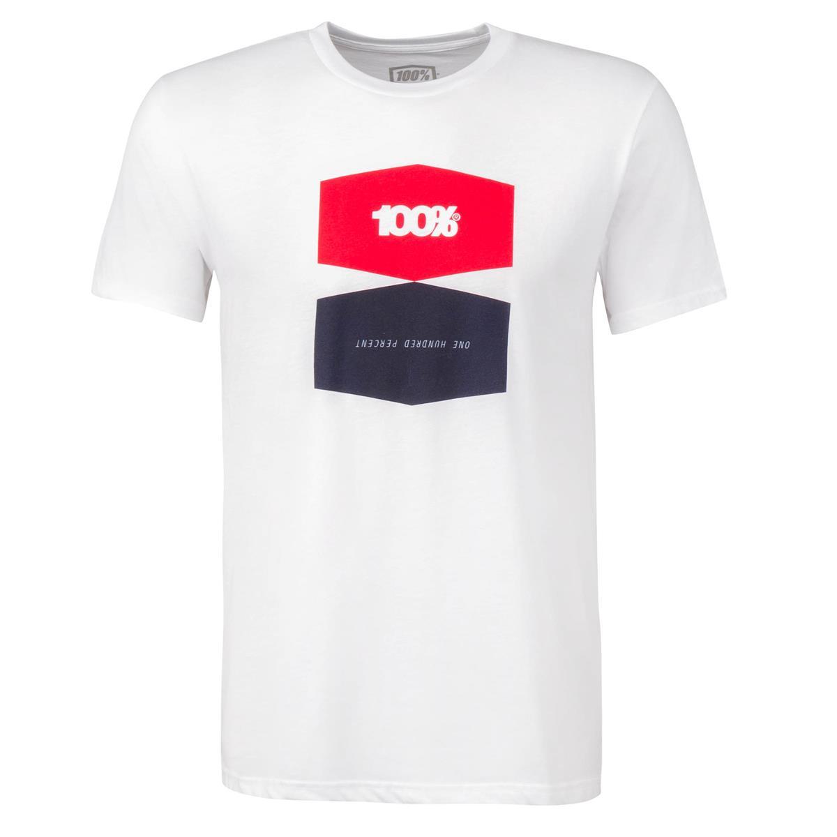 100% T-Shirt Balance Weiß