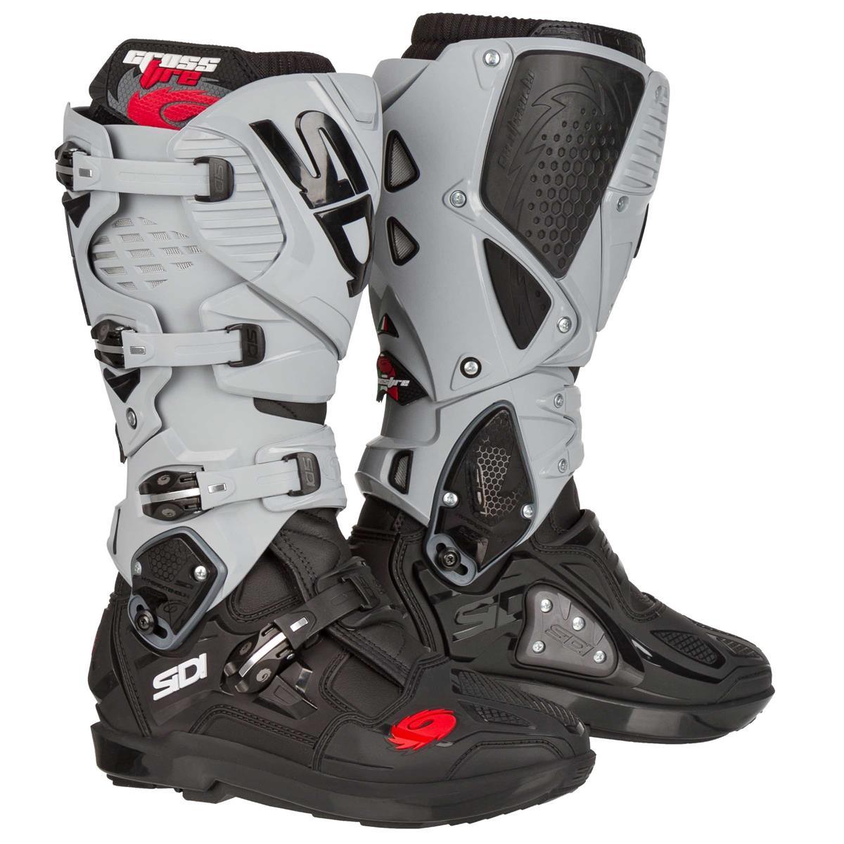 Sidi Motocross-Stiefel Crossfire 3 SRS Black Ash