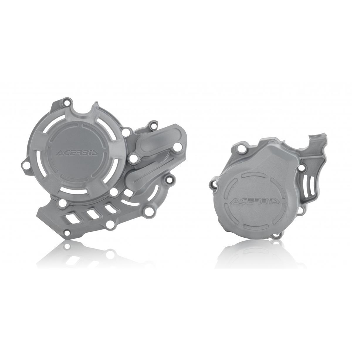 Acerbis Kupplungs/Zündungsdeckelschutz X-Power KTM EXC-F 450/500 17-19, SX-F 450 16-19, Husqvarna FC 450 16-19, FE 450 17-19, FE 501 2019, Silber
