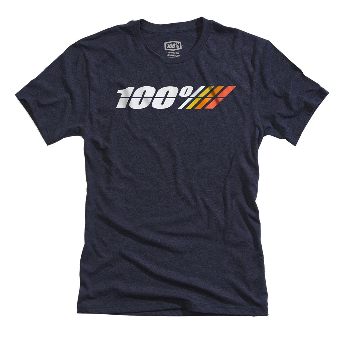 100% Tech T-Shirt Motorrad Navy Heather