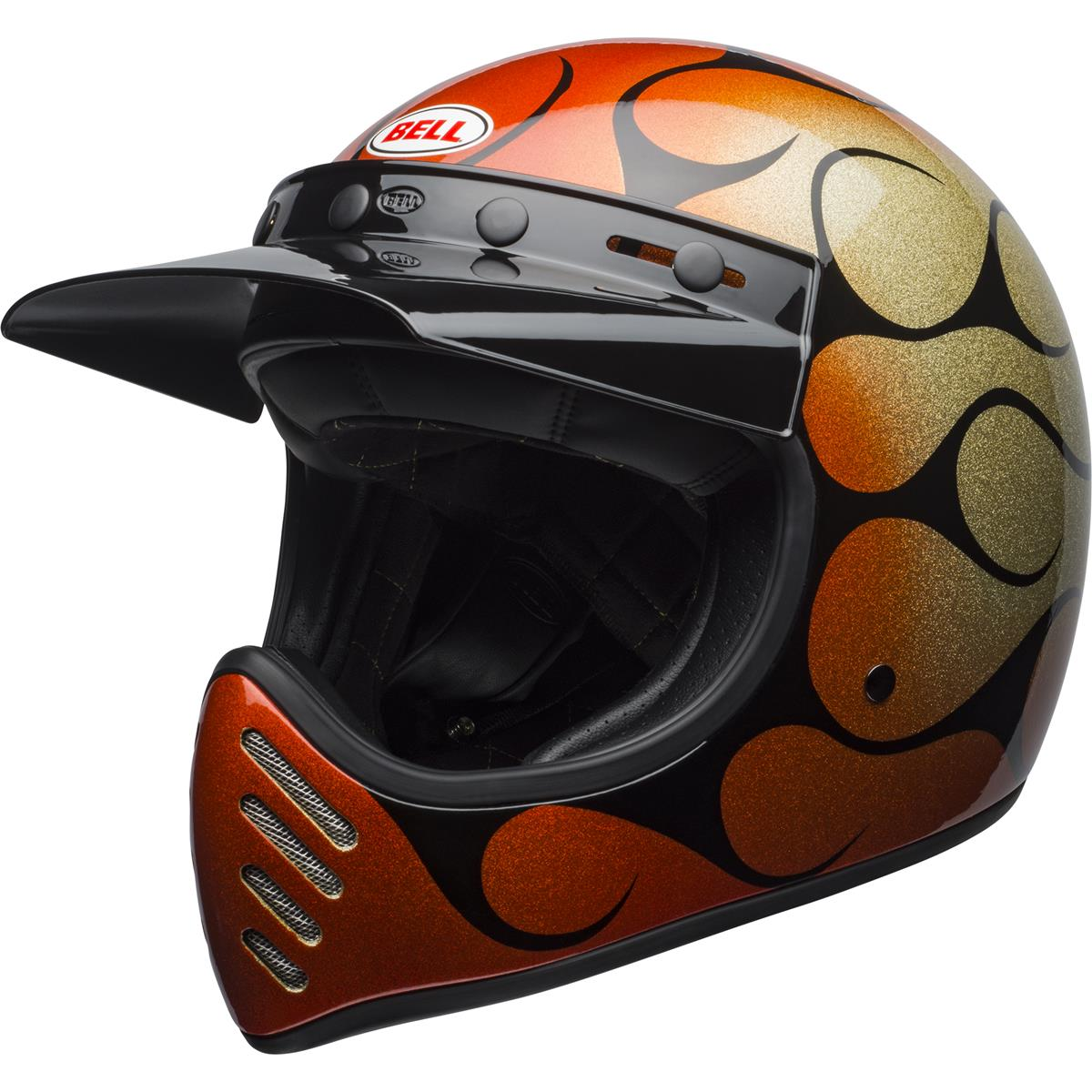 Bell Helm Moto-3 Chemical Candy Flames - Orange/Schwarz