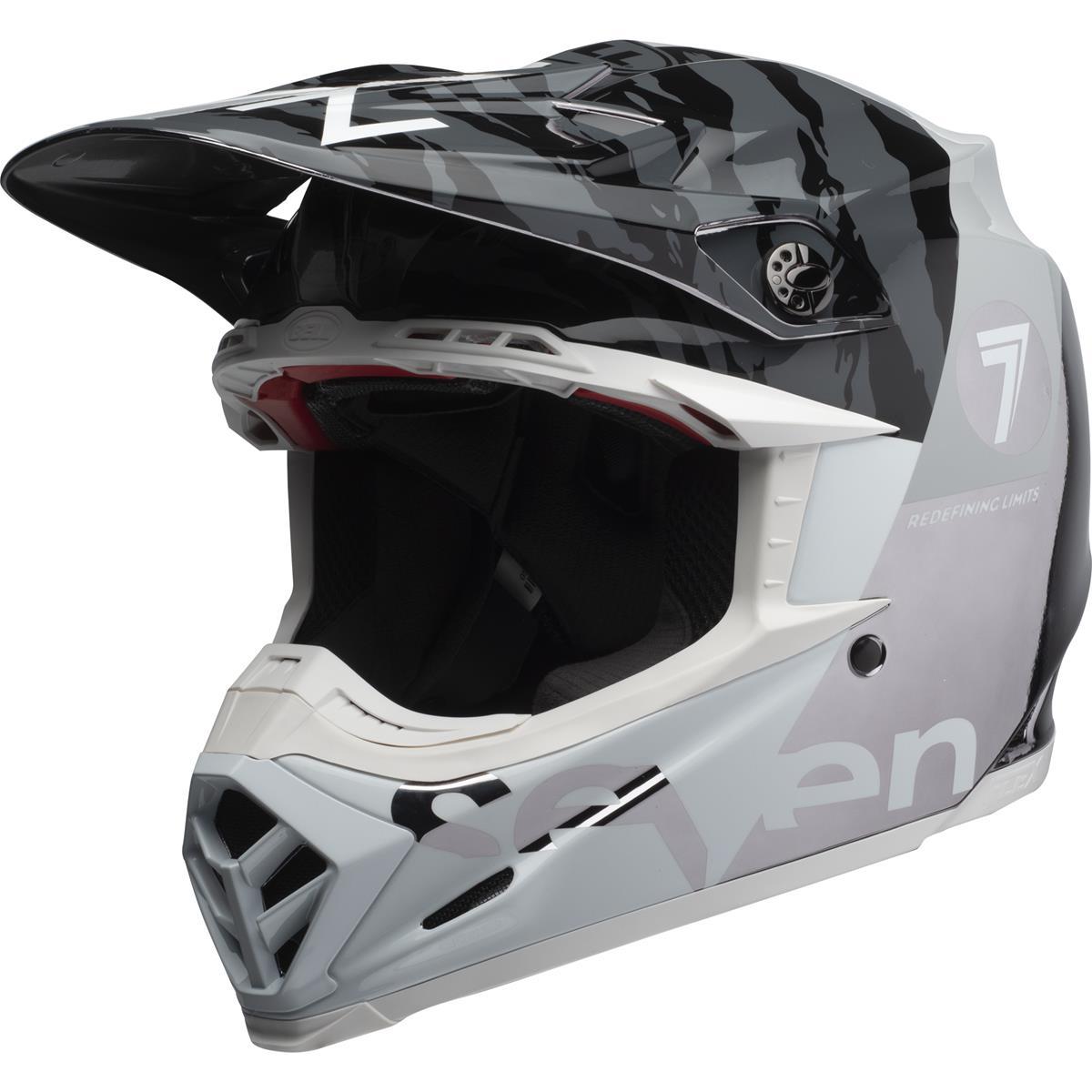Bell Helmet Moto-9 Flex Seven Zone - Black/Chrome