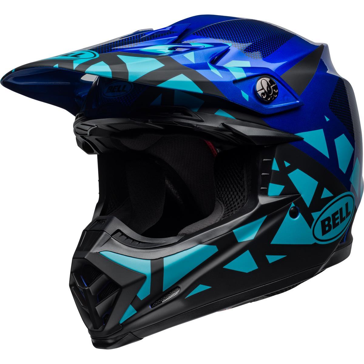 Bell Helm Moto-9 MIPS Tremor - Blau/Schwarz