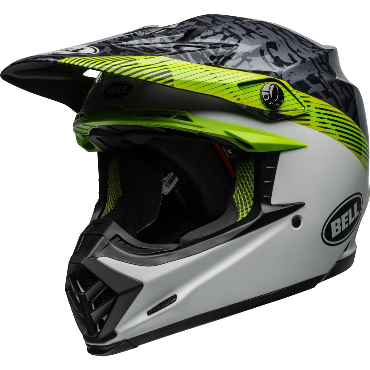 Bell Helm Moto-9 MIPS Chief - Schwarz/Weiß/Grün