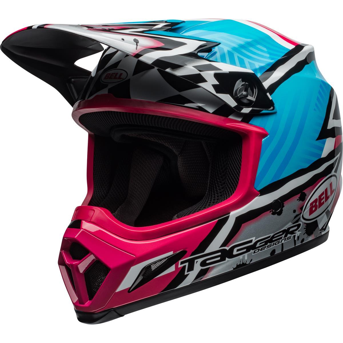 Bell Helm MX-9 MIPS Tagger Asymetric - Blau/Pink