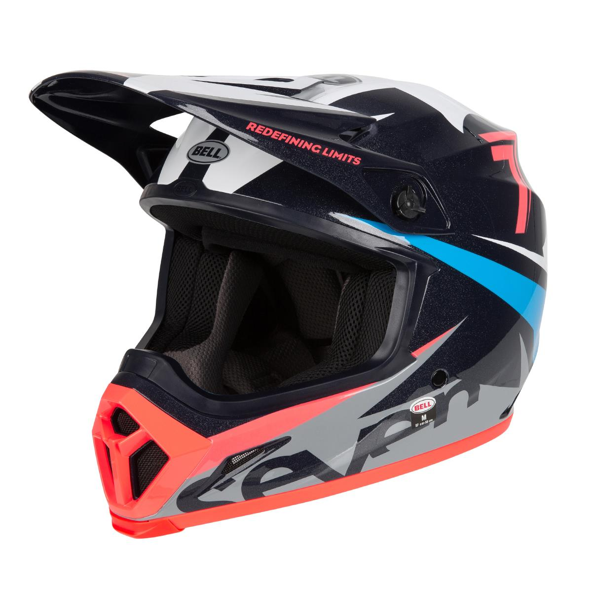 Bell Helm MX-9 MIPS Seven Ignite - Navy/Coral