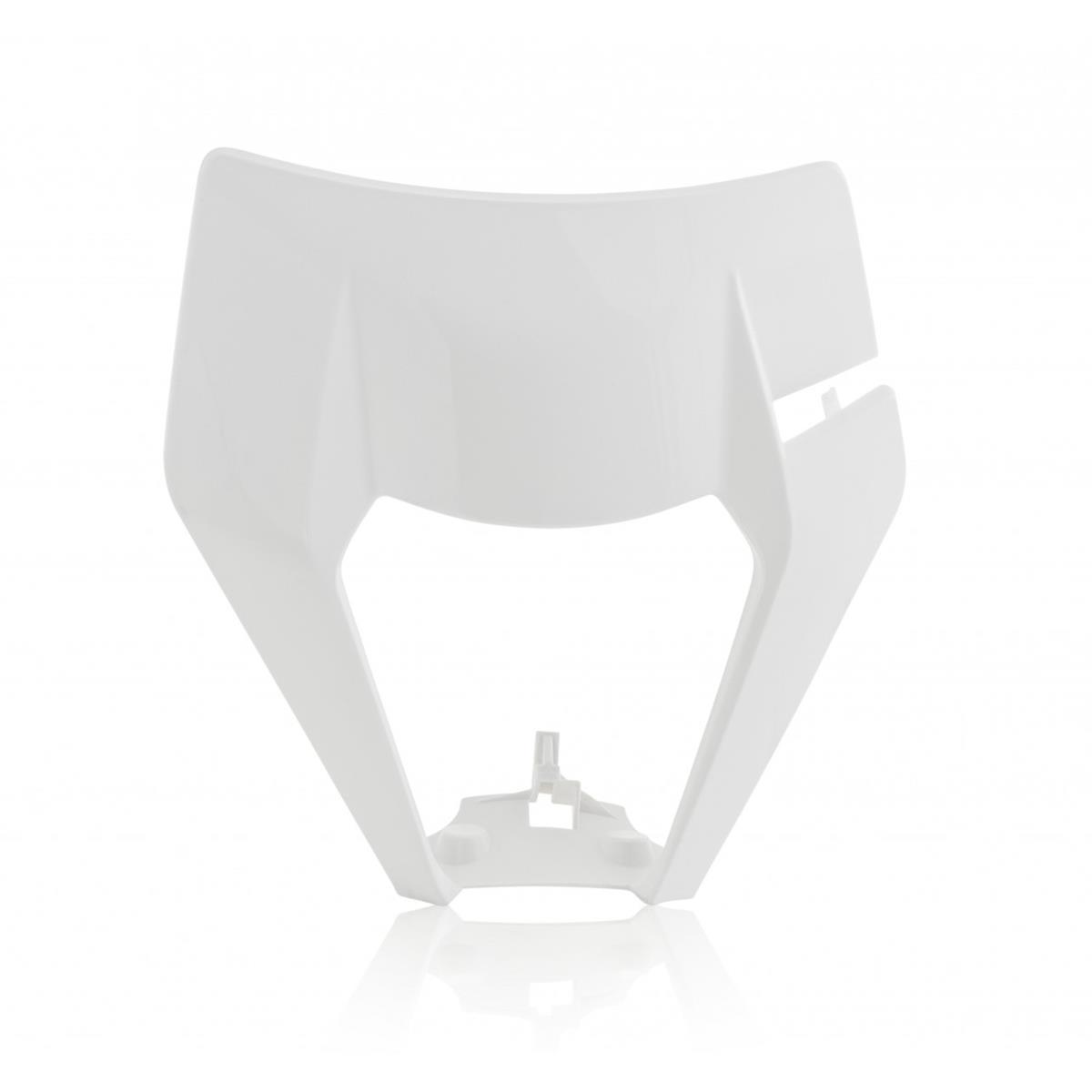 Acerbis Lampenmaske  KTM EXC 125/150/250/300, EXC-F 250/350/450 17-19, Weiß