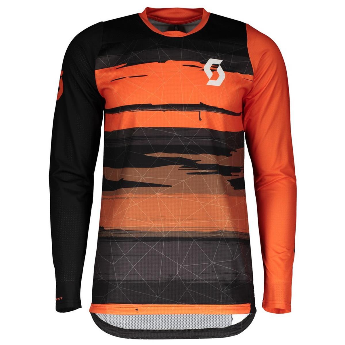 Scott Trail Jersey Long Sleeve Trail Progressive Black/Exotic Orange