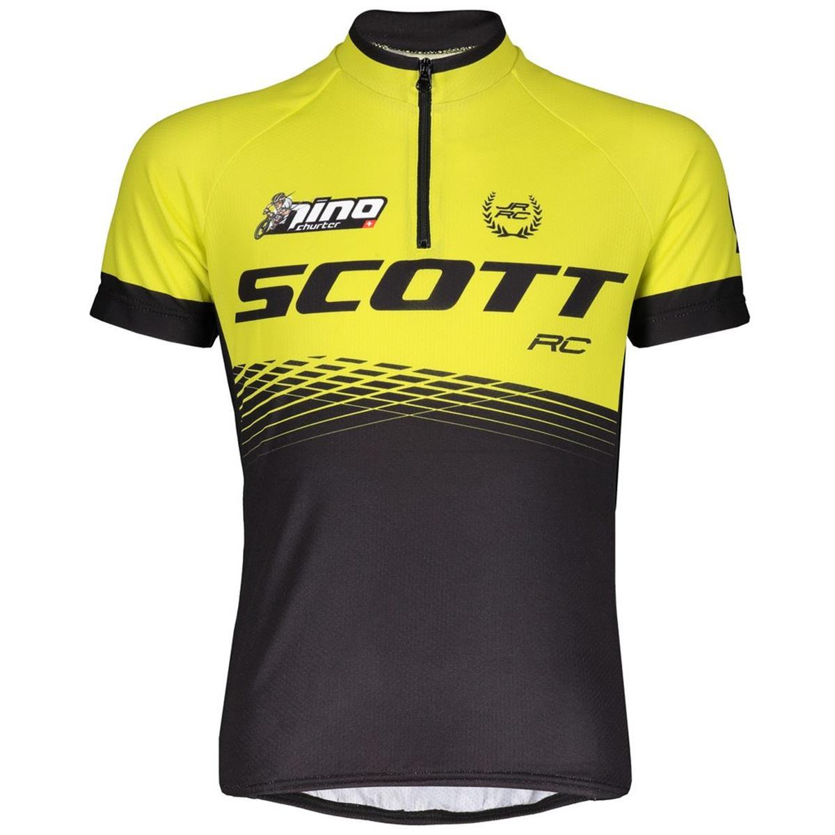 Scott Kids Half Zip-Jersey Kurzarm Race Pro Schwarz/Sulphur Yellow