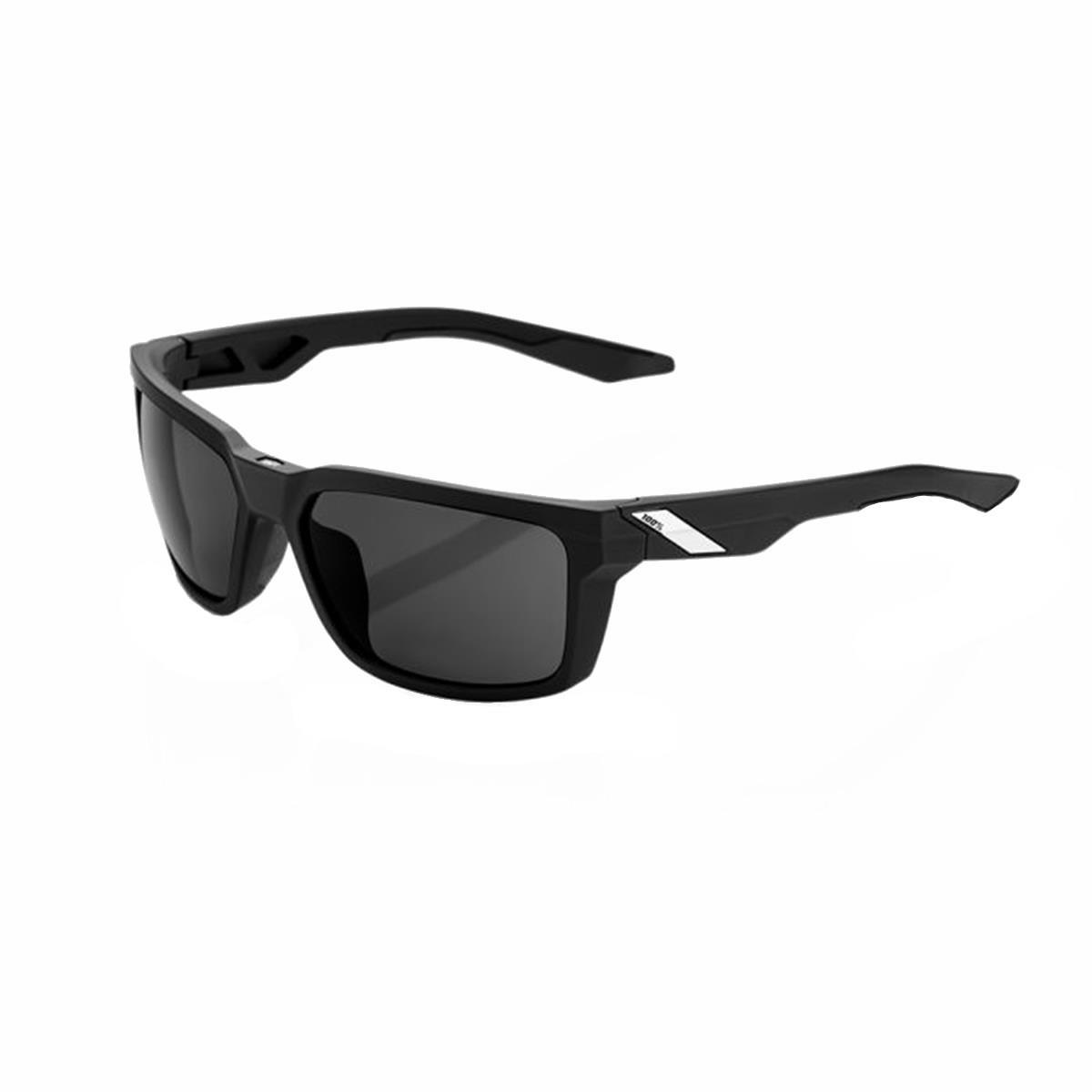 100% Sportbrille Daze Soft Tact Black - Smoke Lens
