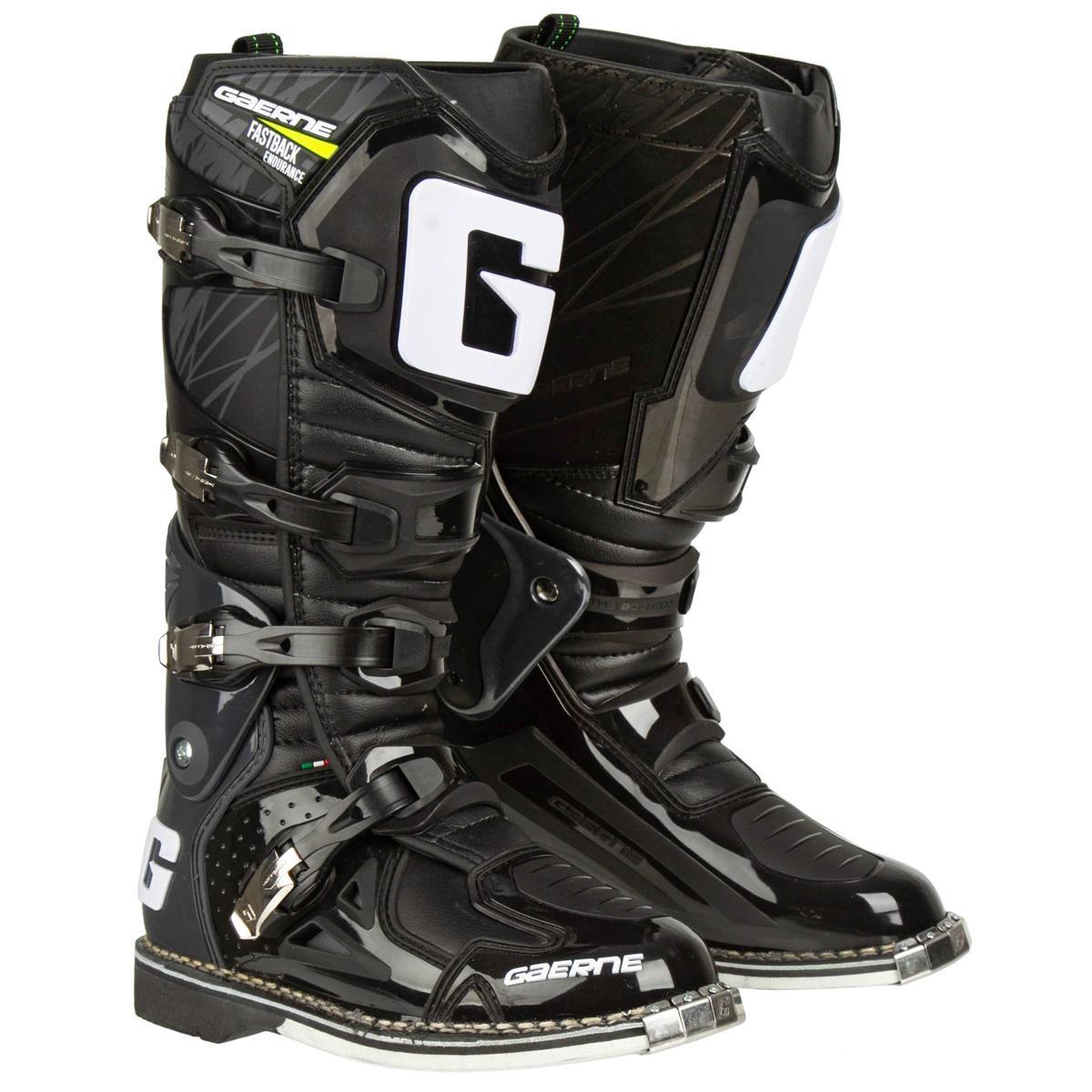 Gaerne Motocross-Stiefel Fastback Endurance Schwarz