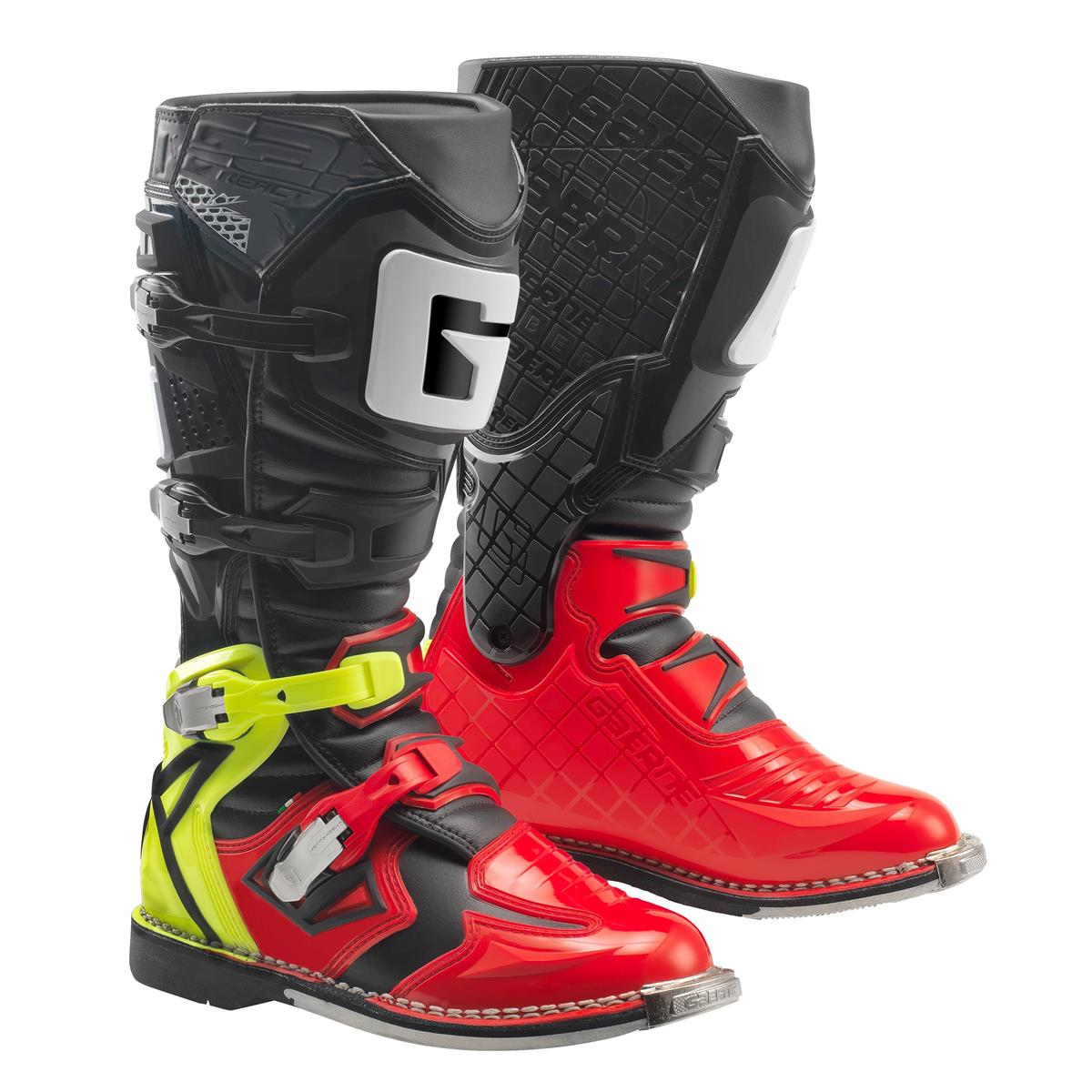 Gaerne Motocross-Stiefel React Goodyear Rot/Neon