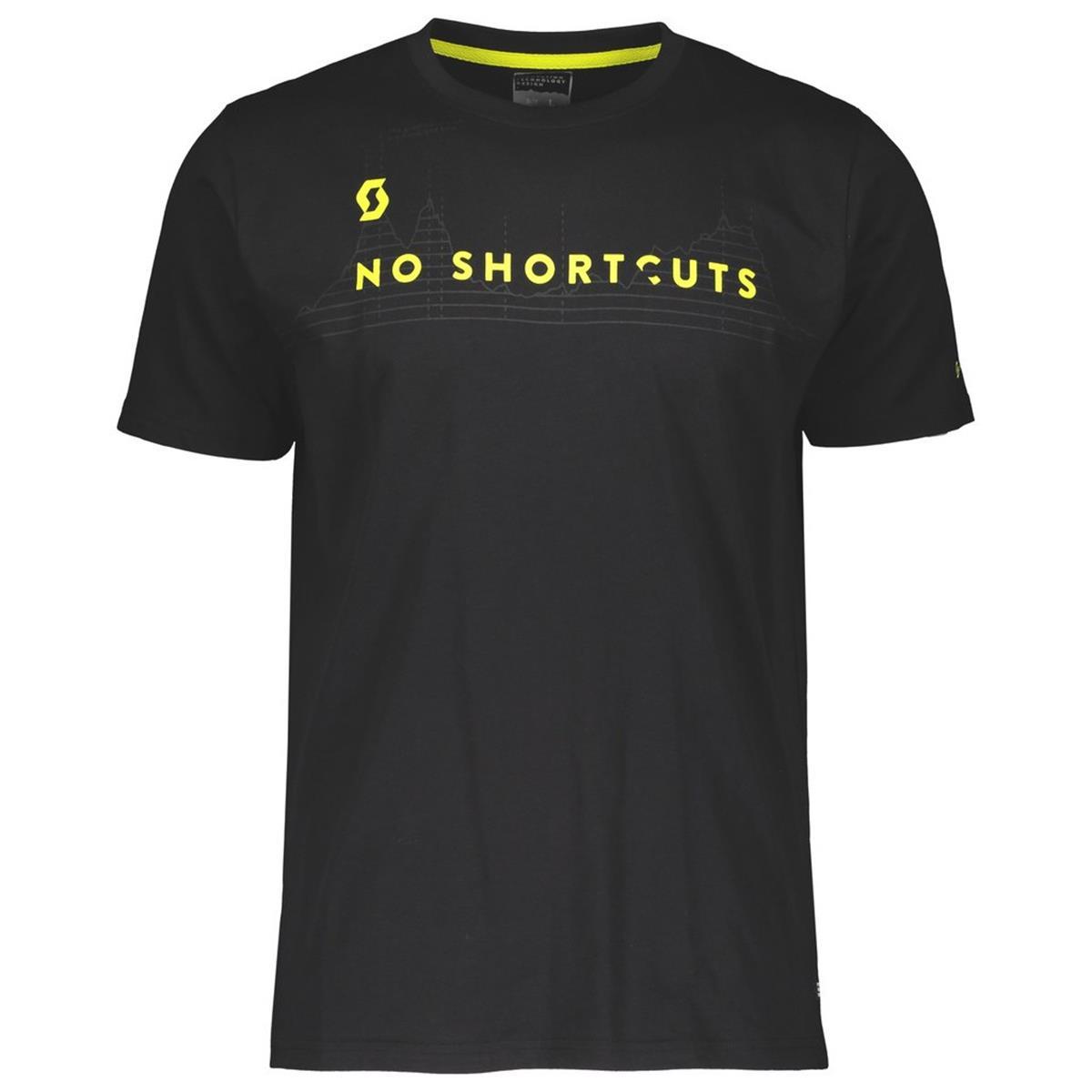 Scott T-Shirt No Shortcuts Schwarz