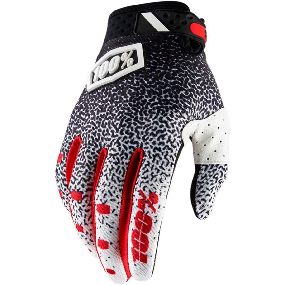100% Bike-Handschuhe Ridefit Weiß/Schwarz