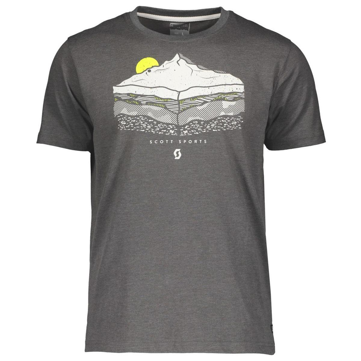 Scott T-Shirt 10 Graphic Dark Grey Melange