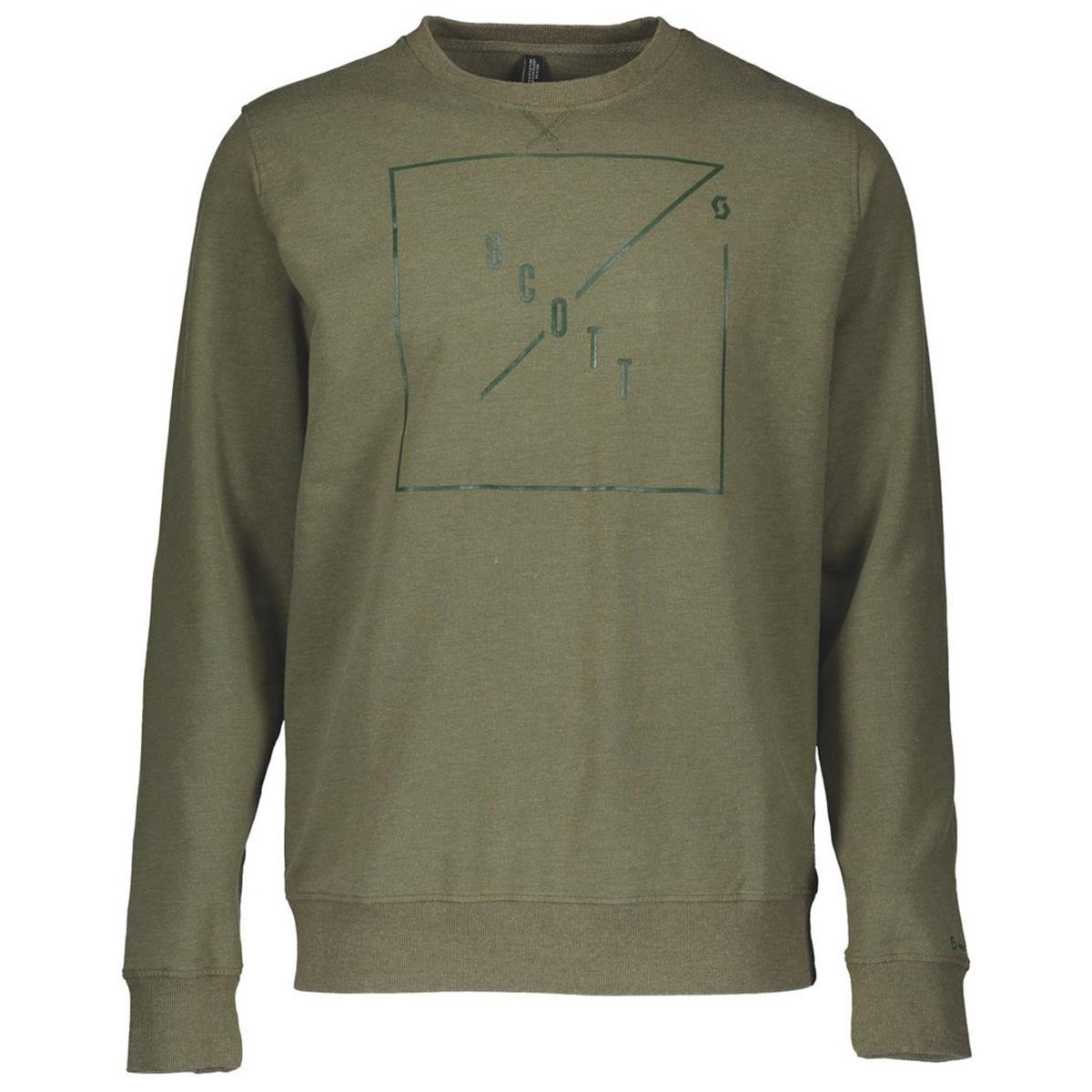 Scott Sweatshirt 10 Casual Crewneck Green Moss Melange