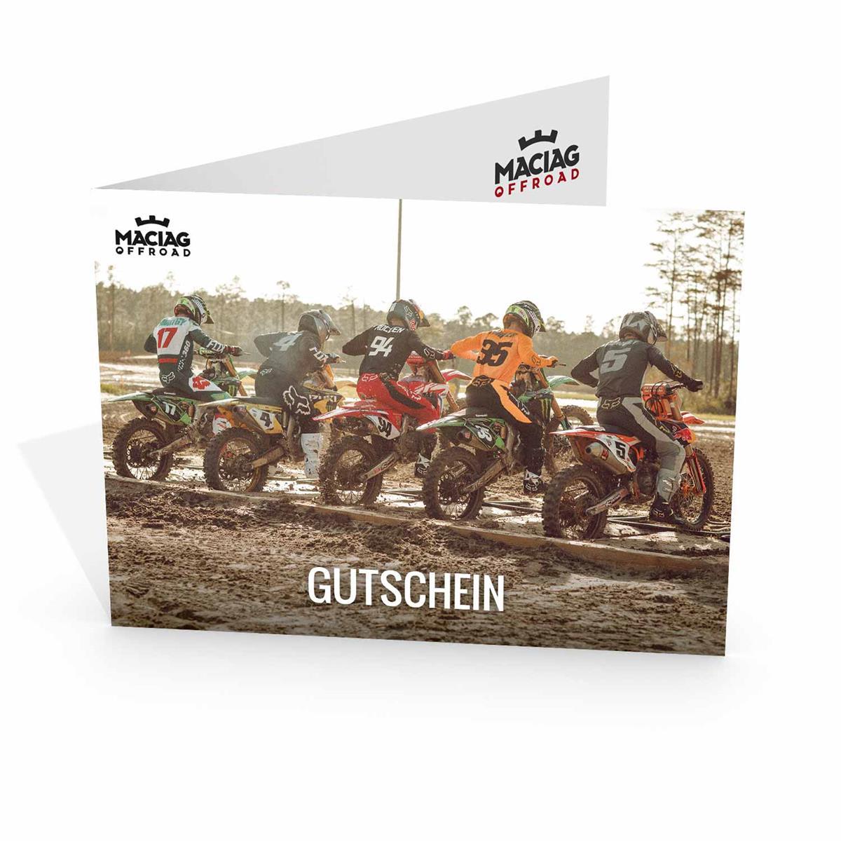 Maciag Offroad Gutschein Motocross-Motiv 2019 im Wert von 25.00 Euro