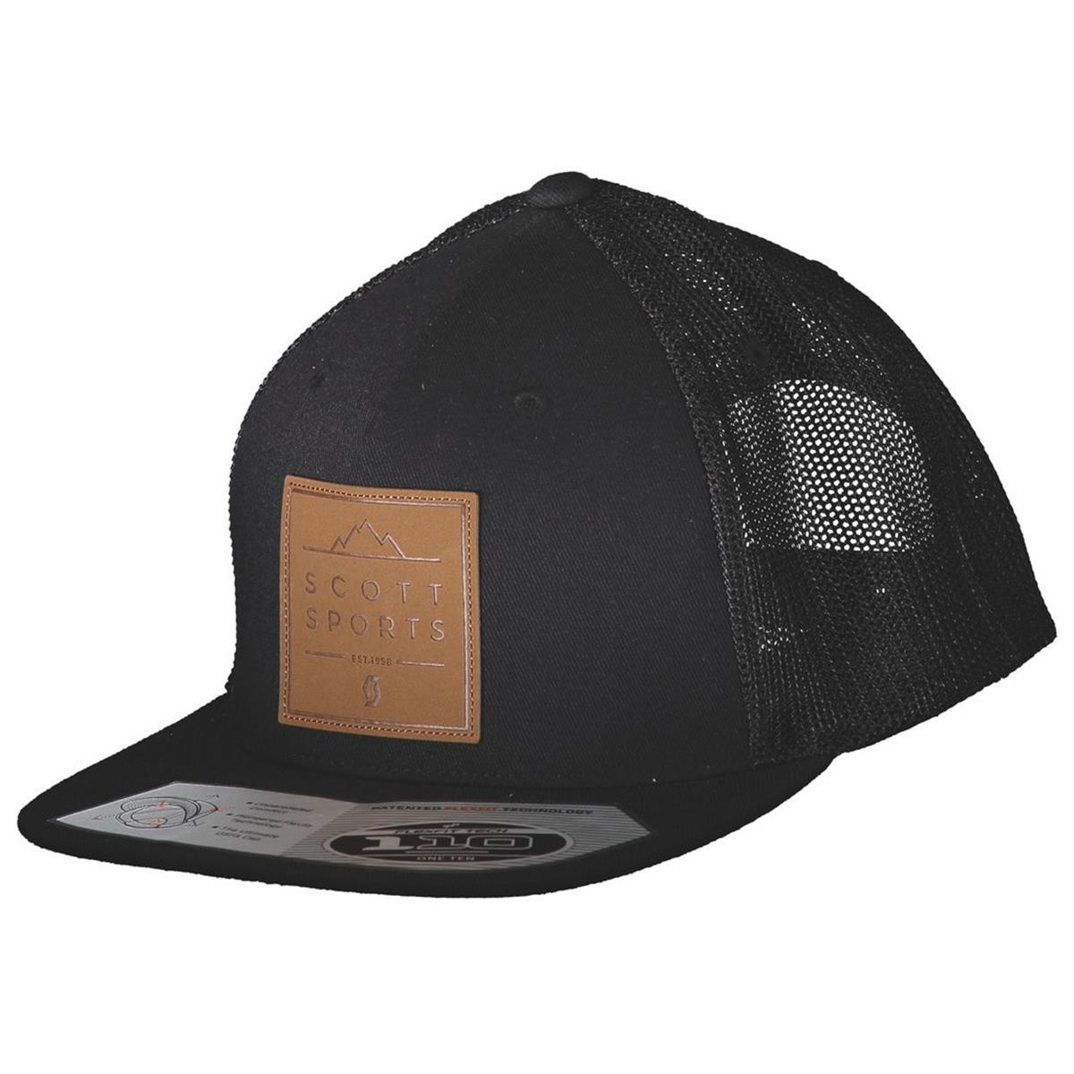 duża obniżka zniżka zniżki z fabryki Scott Flexfit Cap Leather Patch Black
