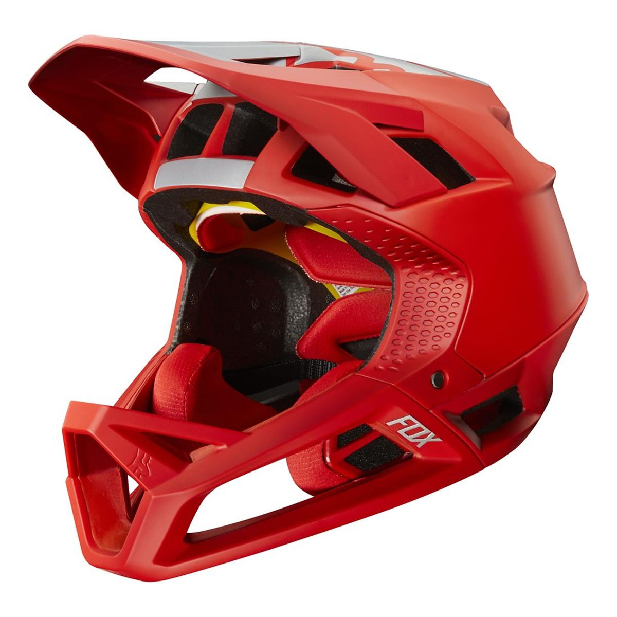 Fox Downhill-MTB Helm Proframe Limited Edition WIDE OPEN - Bright Red
