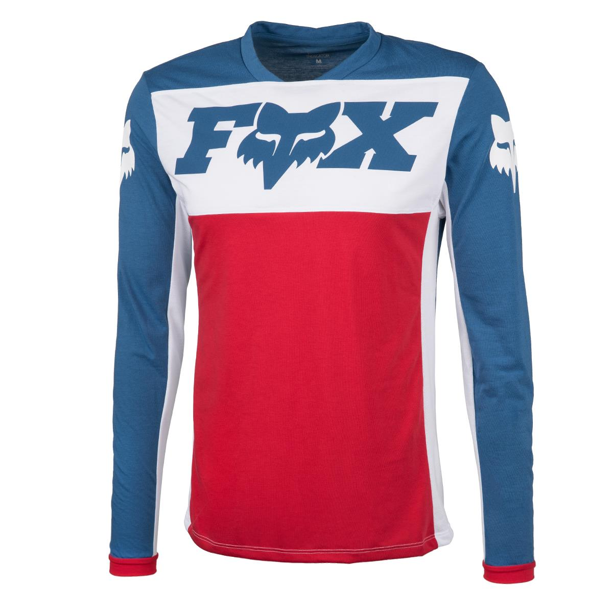 Fox Trail-Jersey Langarm Indicator Limited Edition WIDE OPEN - Navy/Rot