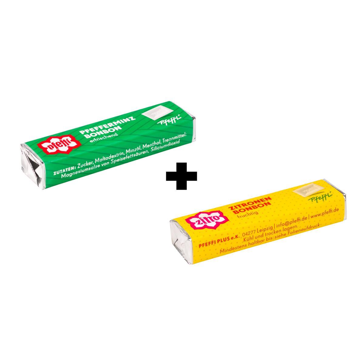 Pfeffi Zitronen- und Pfefferminzbonbons  2x 10er Pack