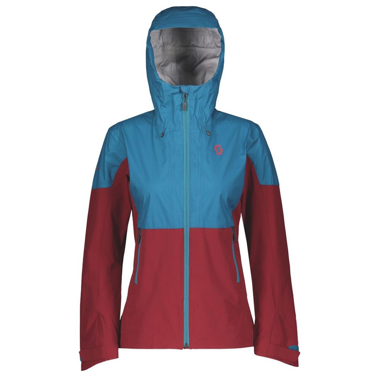 Scott Girls Jacke Trail MTN Stretch Hybrid 30 Celestial Blue/Merlot Red