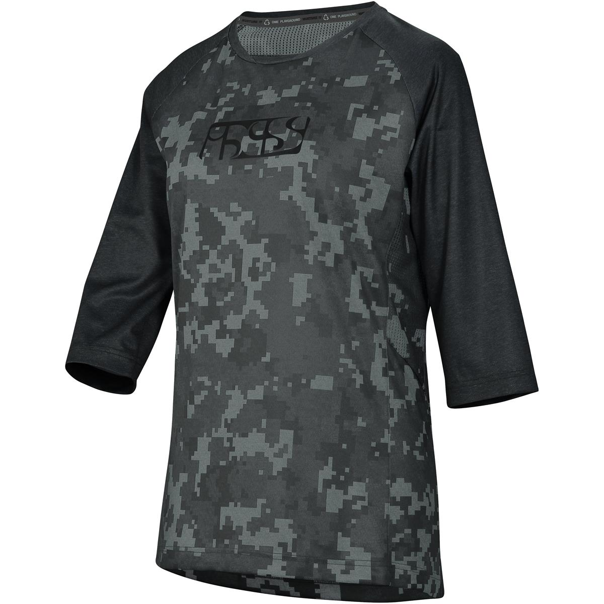 IXS Girls Trail-Jersey 3/4-Arm Carve Schwarz/Camo