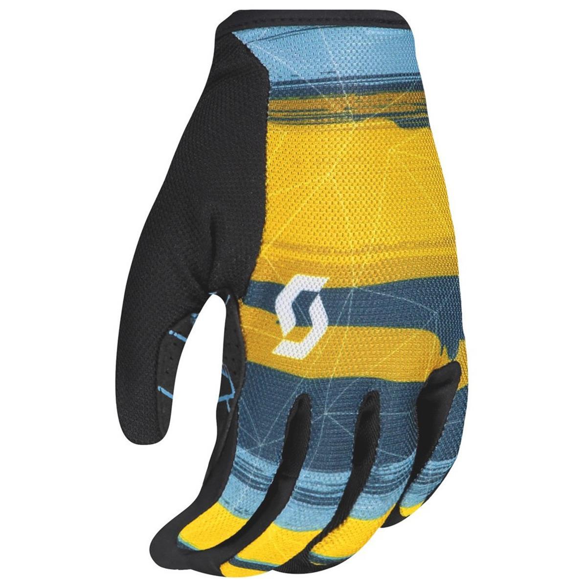 Scott Bike-Handschuhe Traction Ochre Yellow/Blau