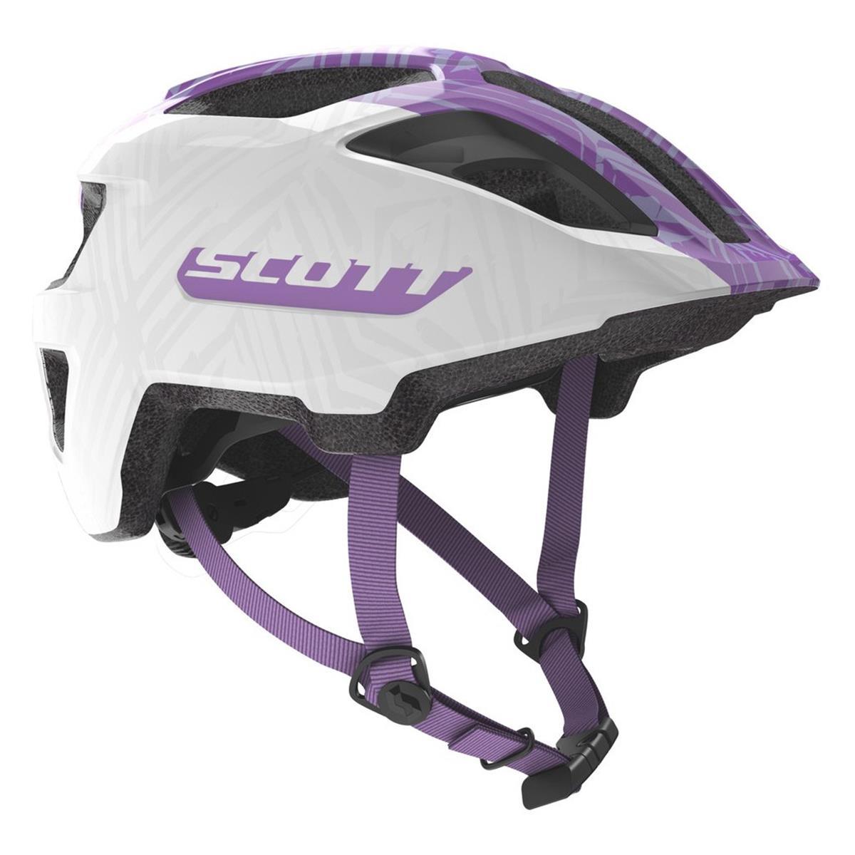 Scott Kids Trail-Helm Spunto Junior Weiß/Violett